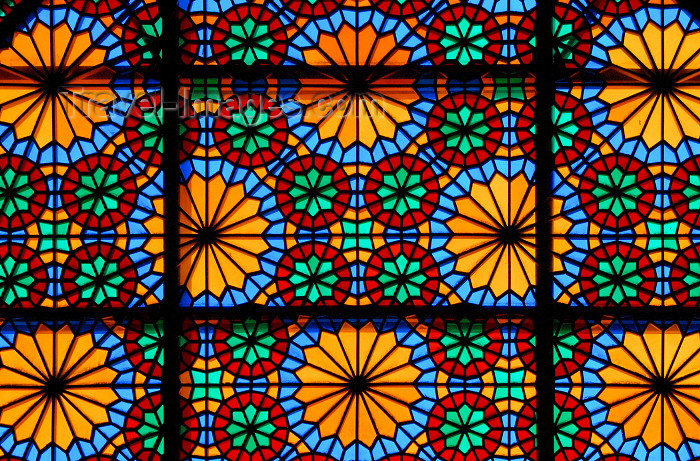 iran264: Iran - Shiraz: detail of stained glass window - Karim Khan Zand citadel - photo by M.Torres - (c) Travel-Images.com - Stock Photography agency - Image Bank