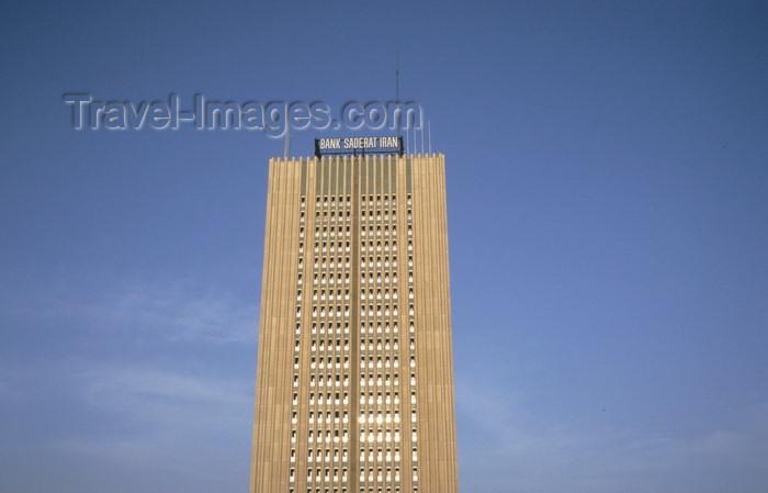 iran265: Iran - Tehran: tower of Bank Saderat Iran - photo by W.Allgower - (c) Travel-Images.com - Stock Photography agency - Image Bank