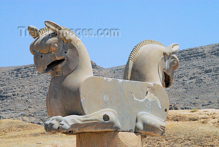 iran276: Iran - Persepolis: statue of double headed Homa - photo by M.Torres - (c) Travel-Images.com - Stock Photography agency - Image Bank