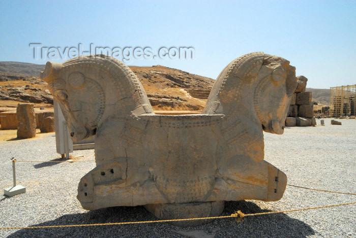 iran281: Iran - Persepolis: double-headed kneeling bull - photo by M.Torres - (c) Travel-Images.com - Stock Photography agency - Image Bank