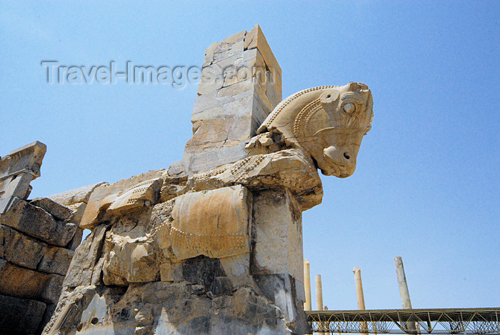 iran286: Iran - Persepolis: portico with a bull - photo by M.Torres - (c) Travel-Images.com - Stock Photography agency - Image Bank