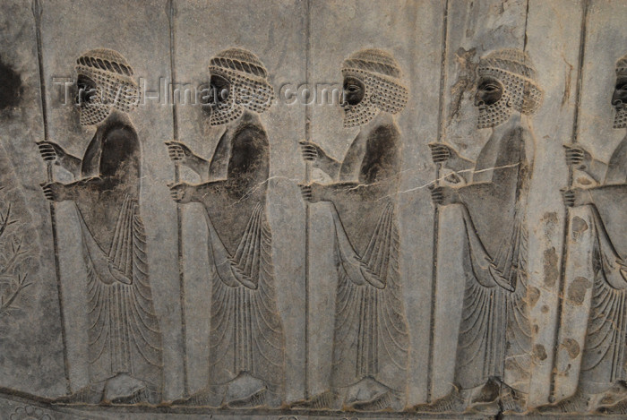 iran294: Iran - Persepolis: Apadana - soldiers of the Achaemenid empire - photo by M.Torres - (c) Travel-Images.com - Stock Photography agency - Image Bank
