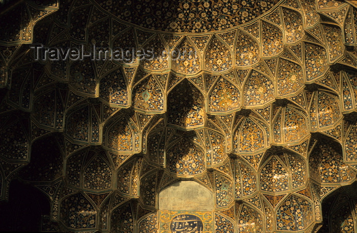 iran30: Iran - Isfahan: Mosque entrance - muqarna - stalactite vault - Persian architecture - photo by W.Allgower - (c) Travel-Images.com - Stock Photography agency - Image Bank