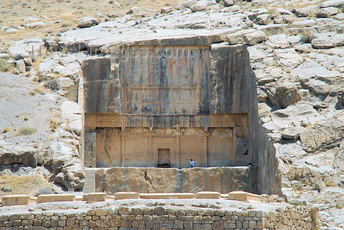 iran302: Iran - Persepolis: Tomb of Artaxerxes III - carved in the rock - photo by M.Torres - (c) Travel-Images.com - Stock Photography agency - Image Bank