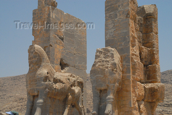 iran305: Iran - Persepolis: Gate of all the nations - west - bulls - photo by M.Torres - (c) Travel-Images.com - Stock Photography agency - Image Bank