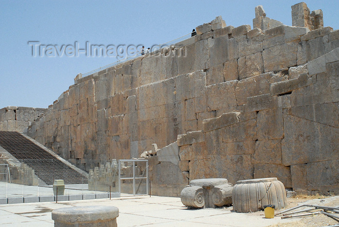 iran306: Iran - Persepolis: Stairs of All Nations and Terrace - main entrance - photo by M.Torres - (c) Travel-Images.com - Stock Photography agency - Image Bank