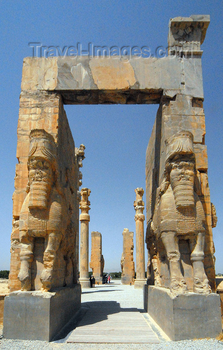 iran308: Iran - Persepolis: Gate of all nations, aka Xerxes' gate - Easter side - UNESCO world heritage - photo by M.Torres - (c) Travel-Images.com - Stock Photography agency - Image Bank