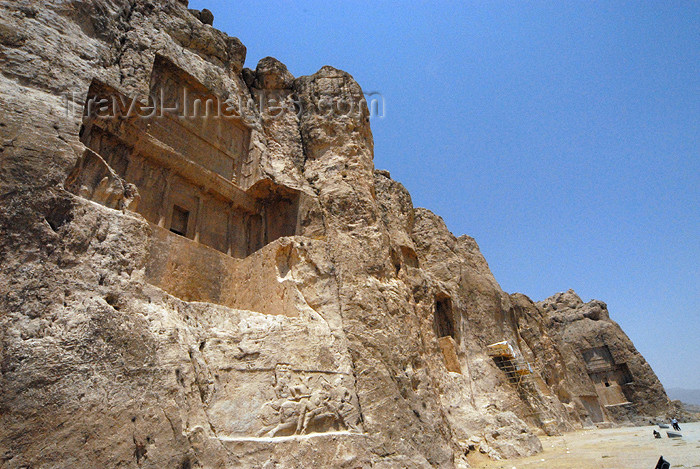 iran324: Iran - Naqsh-e Rustam: cliffs and tomb attributed to Darius II Nothus - photo by M.Torres - (c) Travel-Images.com - Stock Photography agency - Image Bank