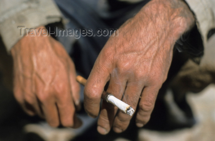 iran36: Iran: hands and cigarette - photo by W.Allgower - (c) Travel-Images.com - Stock Photography agency - Image Bank
