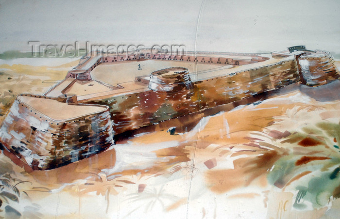 iran366: Iran - Hormuz island: watercolour - Portuguese castle - photo by M.Torres - (c) Travel-Images.com - Stock Photography agency - Image Bank