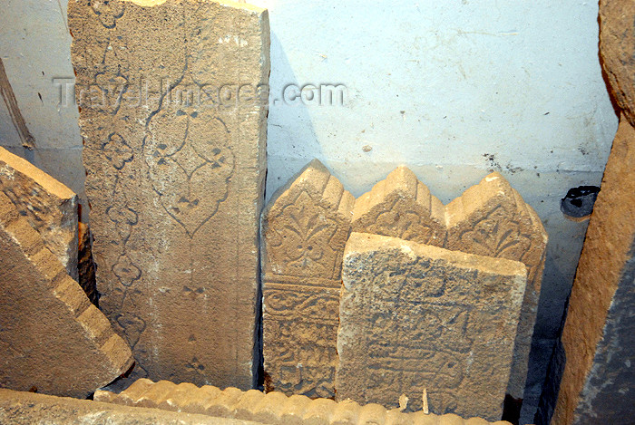 iran378: Iran -  Bandar Abbas: old tomb stones at the Hindu temple - photo by M.Torres - (c) Travel-Images.com - Stock Photography agency - Image Bank