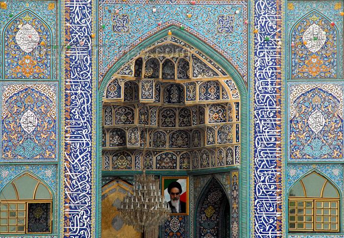 iran392: Iran -  Bandar Abbas: muqarnas at the main Sunni mosque - photo by M.Torres - (c) Travel-Images.com - Stock Photography agency - Image Bank