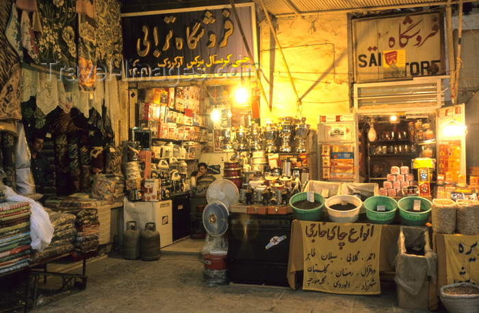 iran397: Iran - Kashan, Isfahan province: Said's store at the bazaar - photo by W.Allgower - (c) Travel-Images.com - Stock Photography agency - Image Bank