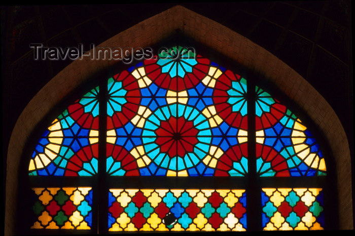 iran4: Iran - Shiraz: Nasir al-Mulk Mosque - stained glass window - photo by W.Allgower - (c) Travel-Images.com - Stock Photography agency - Image Bank