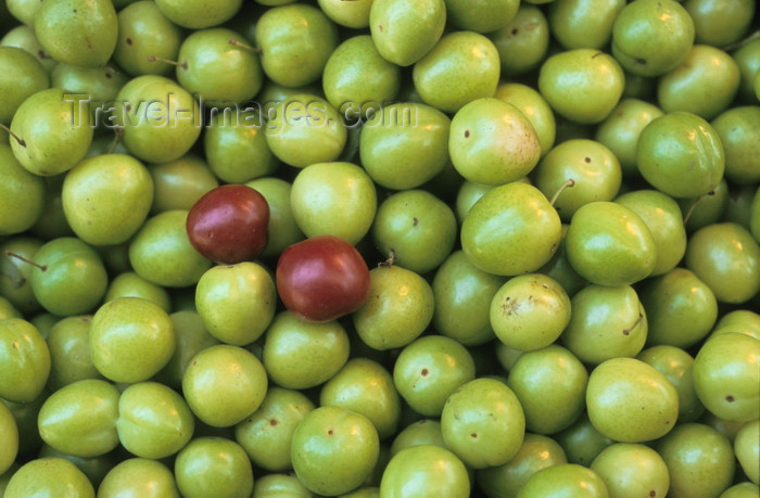 iran401: Iran - Greengages - Prunus domestica 'Reine Claude' - a cultivar of the plum - bazaar - photo by W.Allgower - (c) Travel-Images.com - Stock Photography agency - Image Bank