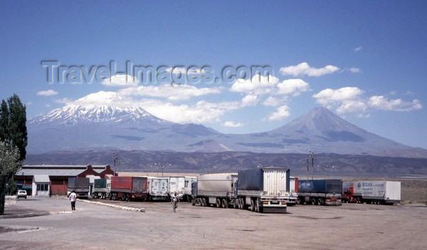 iran41: Bazargan  (Western Azerbaijan / Azarbayjan-e Gharbi): looking at the big and small Ararat - photo by J.Kaman - (c) Travel-Images.com - Stock Photography agency - Image Bank