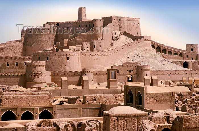 iran415: Iran - Bam, Kerman province: the fortress - Arg-é Bam citadel - the world's largest adobe structure - UNESCO World Heritage Site - photo by W.Allgower - (c) Travel-Images.com - Stock Photography agency - Image Bank