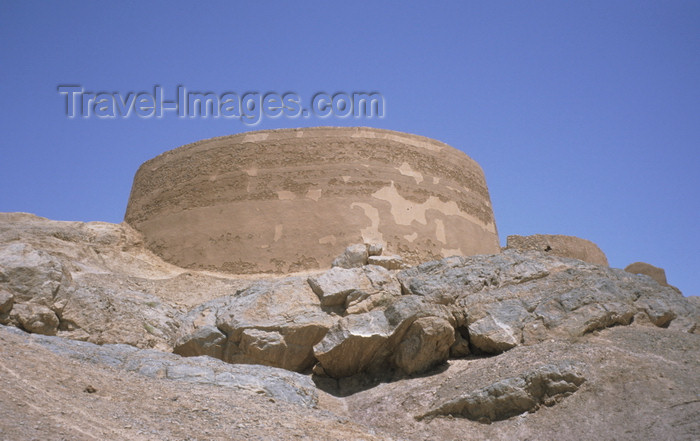 iran45: Iran - Yazd: tower of silence or Dakhmeh, once used to dispose of dead bodies - to avoid contaminating the earth in Zoroastrian funerary tradition bodies were left to be eaten by the birds - photo by W.Allgower - (c) Travel-Images.com - Stock Photography agency - Image Bank