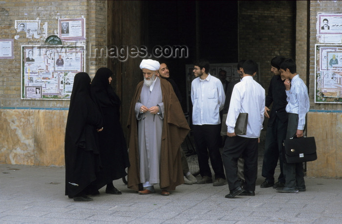 iran459: Iran - Qom: mullah - a Shia cleric speaks to members of his congregation - photo by W.Allgower - (c) Travel-Images.com - Stock Photography agency - Image Bank