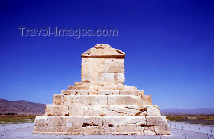 iran470: Iran - Pasargadae, Fars province: tomb of Cyrus the Great in the first capital of the Persian Empire - UNESCO World Heritage Site - photo by W.Allgower - (c) Travel-Images.com - Stock Photography agency - Image Bank
