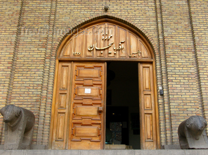 iran471: Tabriz - East Azerbaijan, Iran: rams at the gate of the Museum of Azerbaijan - archaeology museum located next to Khaqani park - Khomeyni St. - photo by N.Mahmudova - (c) Travel-Images.com - Stock Photography agency - Image Bank