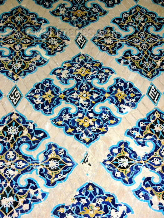 iran474: Tabriz - East Azerbaijan, Iran: tiles - decoration at the Blue mosque - photo by N.Mahmudova - (c) Travel-Images.com - Stock Photography agency - Image Bank