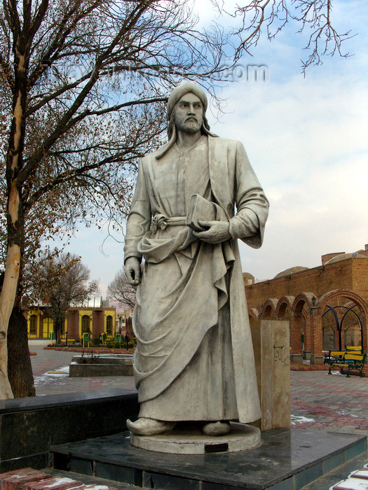 iran476: Tabriz - East Azerbaijan, Iran: Khaqani's statue - Nestorian poet, master of panegyric qasida - Khaqani Park, behind the Blue Mosque - photo by N.Mahmudova - (c) Travel-Images.com - Stock Photography agency - Image Bank