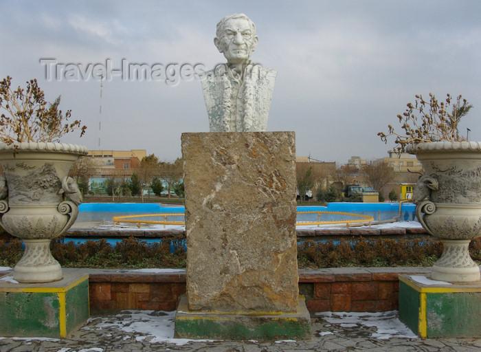 iran478: Tabriz - East Azerbaijan, Iran: bust of the Iranian Azeri poet Mohammad-Hossein Shahriar near the Maqbaratoshoara - photo by N.Mahmudova - (c) Travel-Images.com - Stock Photography agency - Image Bank