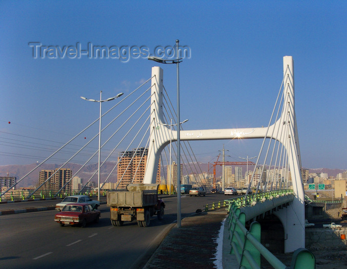 iran482: Tabriz - East Azerbaijan, Iran: cable-stayed bridge - photo by N.Mahmudova - (c) Travel-Images.com - Stock Photography agency - Image Bank