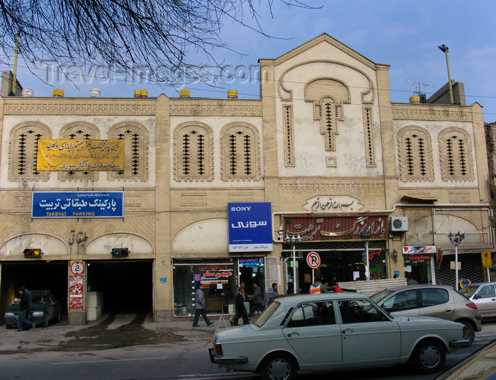 iran487: Tabriz - East Azerbaijan, Iran: street scene - Tarbiyat car park - photo by N.Mahmudova - (c) Travel-Images.com - Stock Photography agency - Image Bank