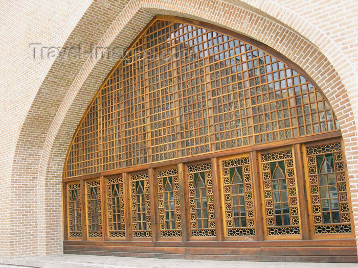 iran492: Tabriz - East Azerbaijan, Iran: large shebeke window - photo by N.Mahmudova - (c) Travel-Images.com - Stock Photography agency - Image Bank