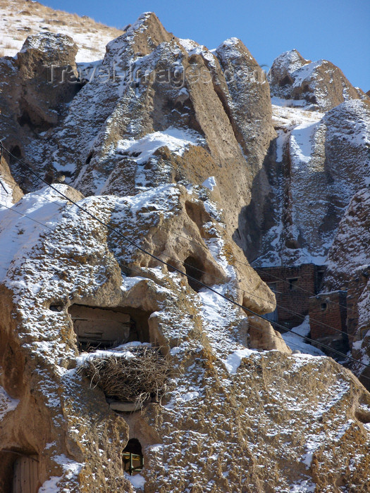 iran516: Kandovan, Osku - East Azerbaijan, Iran: carved cave houses, called 'Karan' in the local dialect - photo by N.Mahmudova - (c) Travel-Images.com - Stock Photography agency - Image Bank