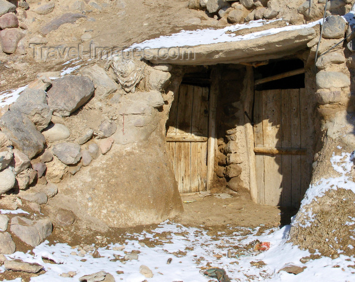 iran517: Kandovan, Osku - East Azerbaijan, Iran: entrance of a cave dwelling - photo by N.Mahmudova - (c) Travel-Images.com - Stock Photography agency - Image Bank