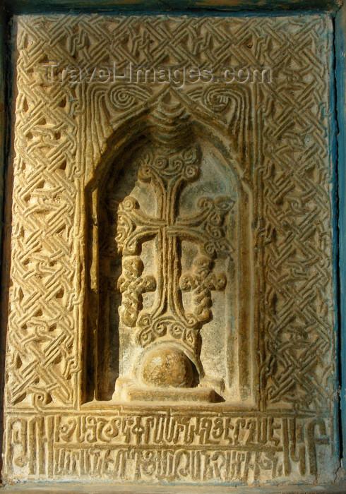 iran523: Isfahan / Esfahan, Iran: 'Khachkar', lit. cross stone in Armenian, Vank Cathedral - Armenian Orthodox Church - Jolfa, the Armenian quarter - photo by N.Mahmudova - (c) Travel-Images.com - Stock Photography agency - Image Bank