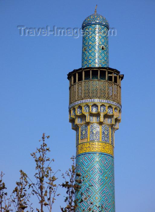 iran534: Isfahan / Esfahan, Iran: minaret of a madrassa near Honar bazaar - photo by N.Mahmudova - (c) Travel-Images.com - Stock Photography agency - Image Bank