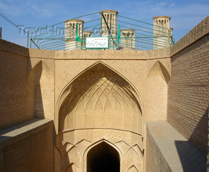 iran540: Yazd, Iran: stairs leading to a cistern - Shesh Badgiri anbar - Sar-dar entrance - photo by N.Mahmudova - (c) Travel-Images.com - Stock Photography agency - Image Bank