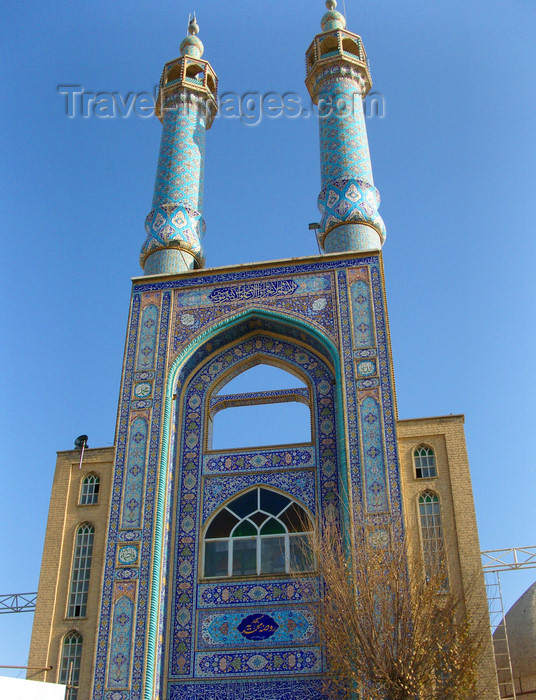 iran550: Yazd, Iran: Hazireh Mosque - portal with dazzling tile work - photo by N.Mahmudova - (c) Travel-Images.com - Stock Photography agency - Image Bank