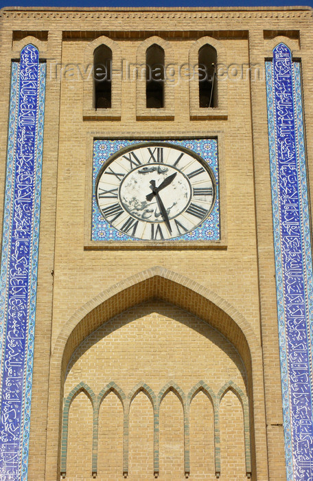 iran553: Yazd, Iran: Clock tower - detail - photo by N.Mahmudova - (c) Travel-Images.com - Stock Photography agency - Image Bank