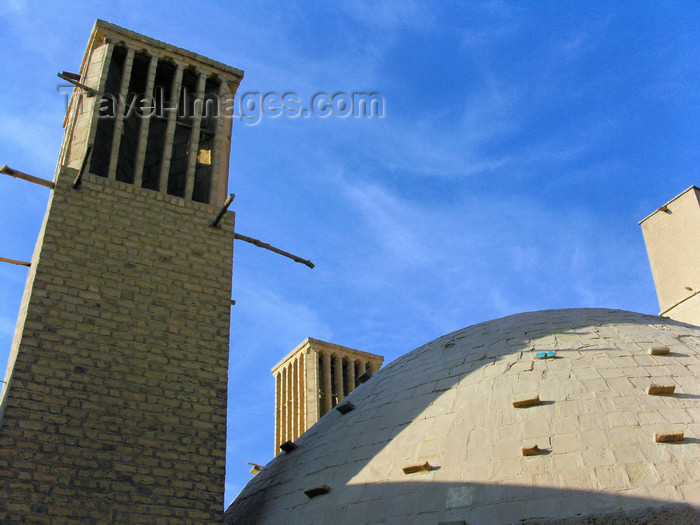iran555: Yazd, Iran: windcatchers and dome at the Fatemeh-ye-Golshan cistern - badgirs - photo by N.Mahmudova - (c) Travel-Images.com - Stock Photography agency - Image Bank