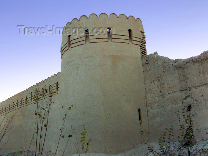 iran563: Yazd, Iran: city walls - tower and ramparts - military architecture - photo by N.Mahmudova - (c) Travel-Images.com - Stock Photography agency - Image Bank
