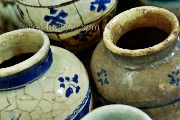 iran63: Yazd region: 19th century Persian Pots - detail - photo by B.Nassarian - (c) Travel-Images.com - Stock Photography agency - Image Bank