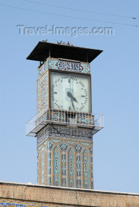 iran75: Iran - Tehran - bazar mosque - clock - photo by M.Torres - (c) Travel-Images.com - Stock Photography agency - Image Bank