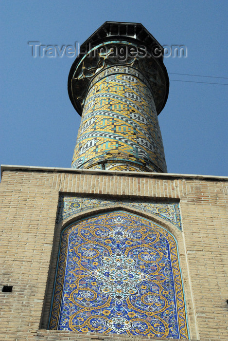 iran76: Iran - Tehran - bazar mosque - minaret - photo by M.Torres - (c) Travel-Images.com - Stock Photography agency - Image Bank