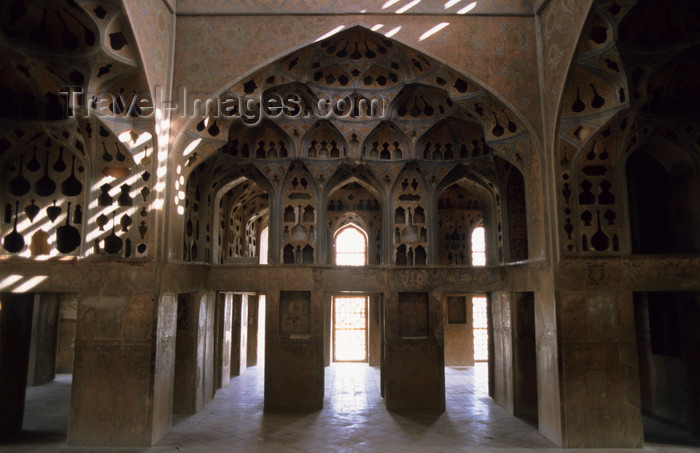 iran9: Iran - Isfahan: Ali Qapu palace - the music room - photo by W.Allgower - (c) Travel-Images.com - Stock Photography agency - Image Bank
