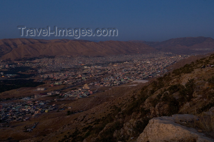 iraq106: Duhok / Dohuk / Dehok / Dahok, Kurdistan, Iraq: the city from the hills - dusk - photo by J.Wreford - (c) Travel-Images.com - Stock Photography agency - Image Bank