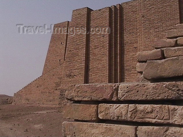 iraq72: Ur of the Chaldees - Dhi Qar / Nasiriya province, Iraq: ziggurat - detail - photo by A.Slobodianik - (c) Travel-Images.com - Stock Photography agency - Image Bank