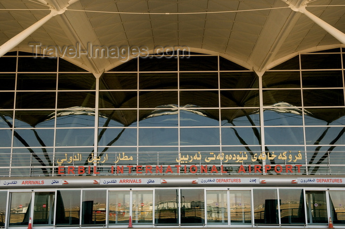 iraq90: Arbil / Erbil / Irbil / Hawler, Kurdistan, Iraq: Erbil International Airport - designed by the Scott Wilson Group - IATA: EBL, ICAO: ORER - Firokexaney Nêwdewletî Hewlêr - photo by J.Wreford - (c) Travel-Images.com - Stock Photography agency - Image Bank