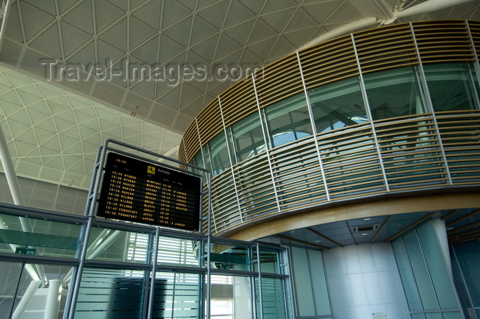 iraq91: Arbil / Erbil / Irbil / Hawler, Kurdistan, Iraq: Erbil International Airport - modern interiors - arrivals board - photo by J.Wreford - (c) Travel-Images.com - Stock Photography agency - Image Bank
