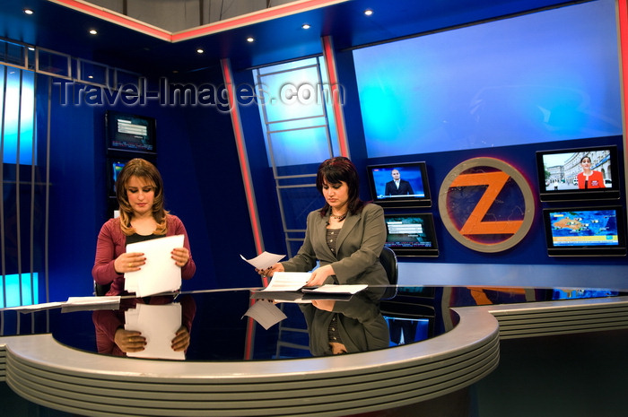 iraq96: Arbil / Erbil / Irbil / Hawler, Kurdistan, Iraq: news presenters at Zagros TV Studio - photo by J.Wreford - (c) Travel-Images.com - Stock Photography agency - Image Bank