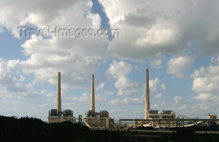 israel134: Israel - Qesarriya / Caesarea Maritima / Caesarea Palaestina - Hadera: Orot Rabin power station, operated by Israel Electric Corporation - IEC - photo by Efi Keren - (c) Travel-Images.com - Stock Photography agency - Image Bank
